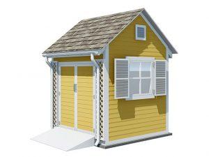 8x8 gable garden shed