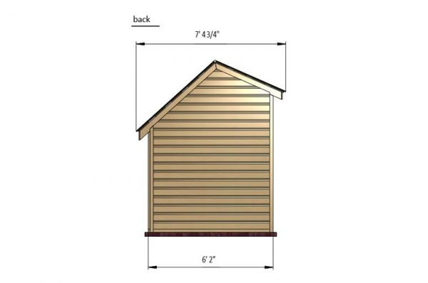 5x6 chicken house back side preview