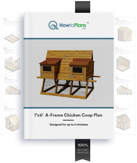 7x6 a frame chicken coop plan product