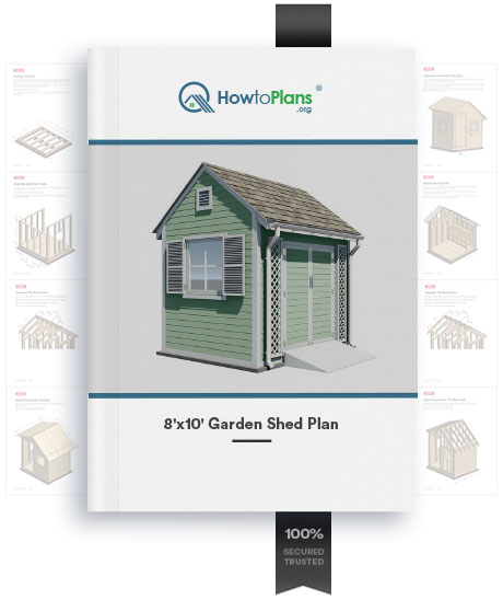 8x10 gable garden shed plan product