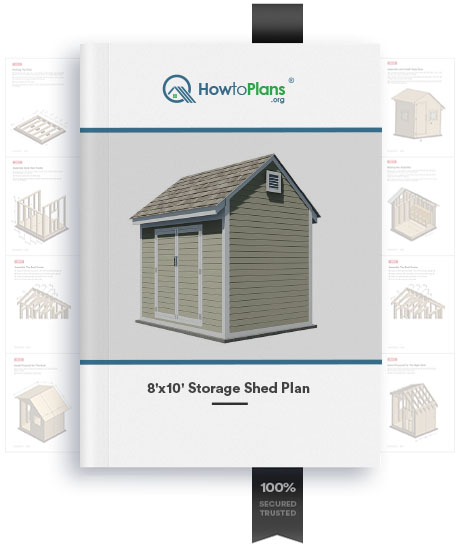 8x10 gable storage shed plan product