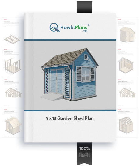 8x12 gable garden shed plan product