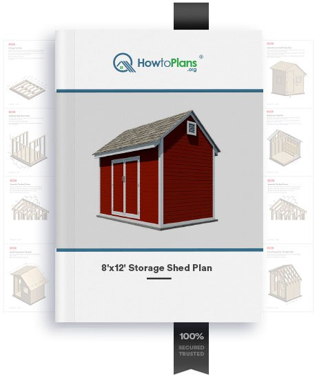 8x12 gable storage shed plan product