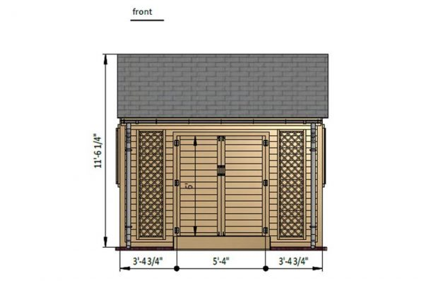 8x12 gable garden shed front side preview