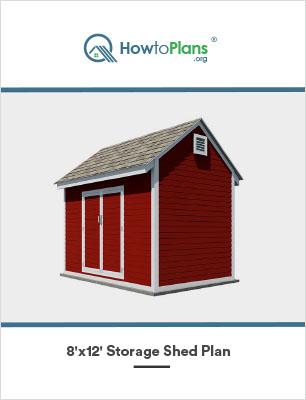 8x12 storage shed plan