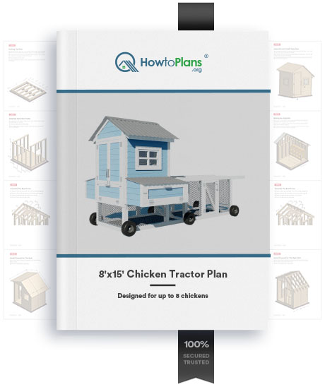 8x15 chicken coop plan product