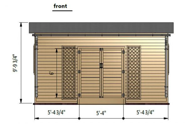 8x16 lean to garden shed front side preview