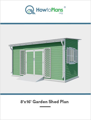 8x16 lean to garden shed plan