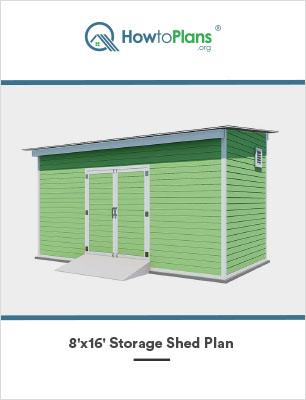 8x16 lean to storage shed plan