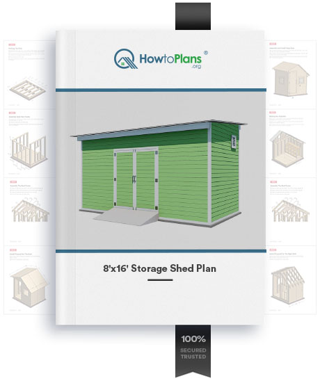 8x16 lean to storage shed plan product