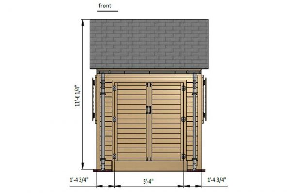 8x8 gable garden shed front side preview