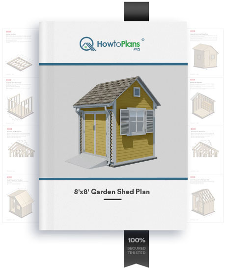 8x8 garden shed plan product