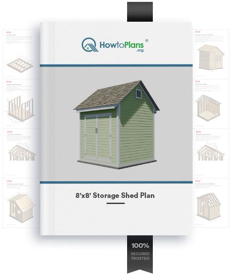8x8 storage shed plan product