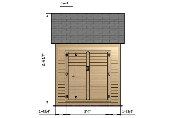 8x8 gable storage shed front side preview