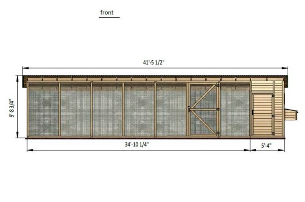 9x42 chicken run front side preview