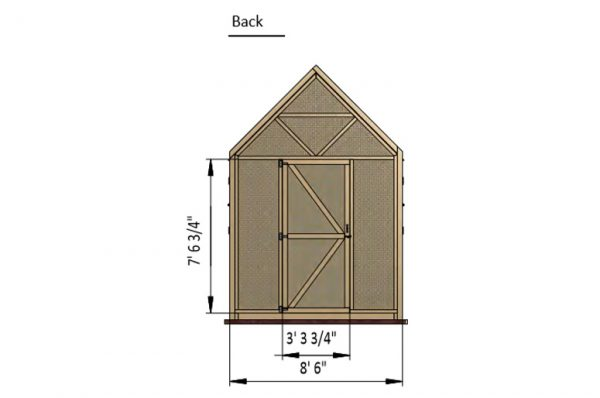 24x8 walk in chicken coop back side preview