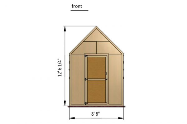 24x8 walk in chicken coop front side preview