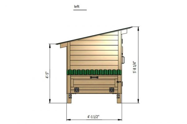 4x3 chicken house left side preview