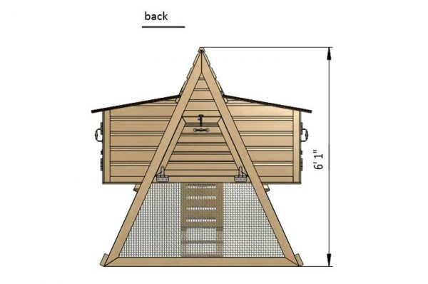7x6 a frame chicken coop back side preview