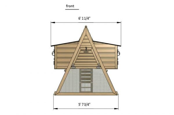 7x6 a frame chicken coop front side preview