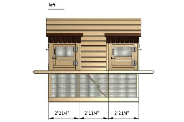 7x6 a frame chicken coop left side preview