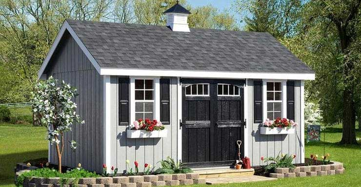 double doors storage shed