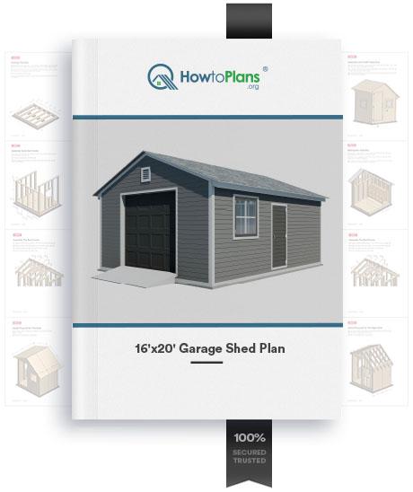 16x20 gable garage shed plan