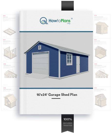 16x24 gable garage shed plan
