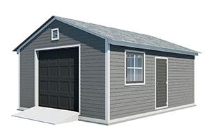 16x20 gable garage shed