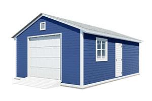 16x24 gable garage shed